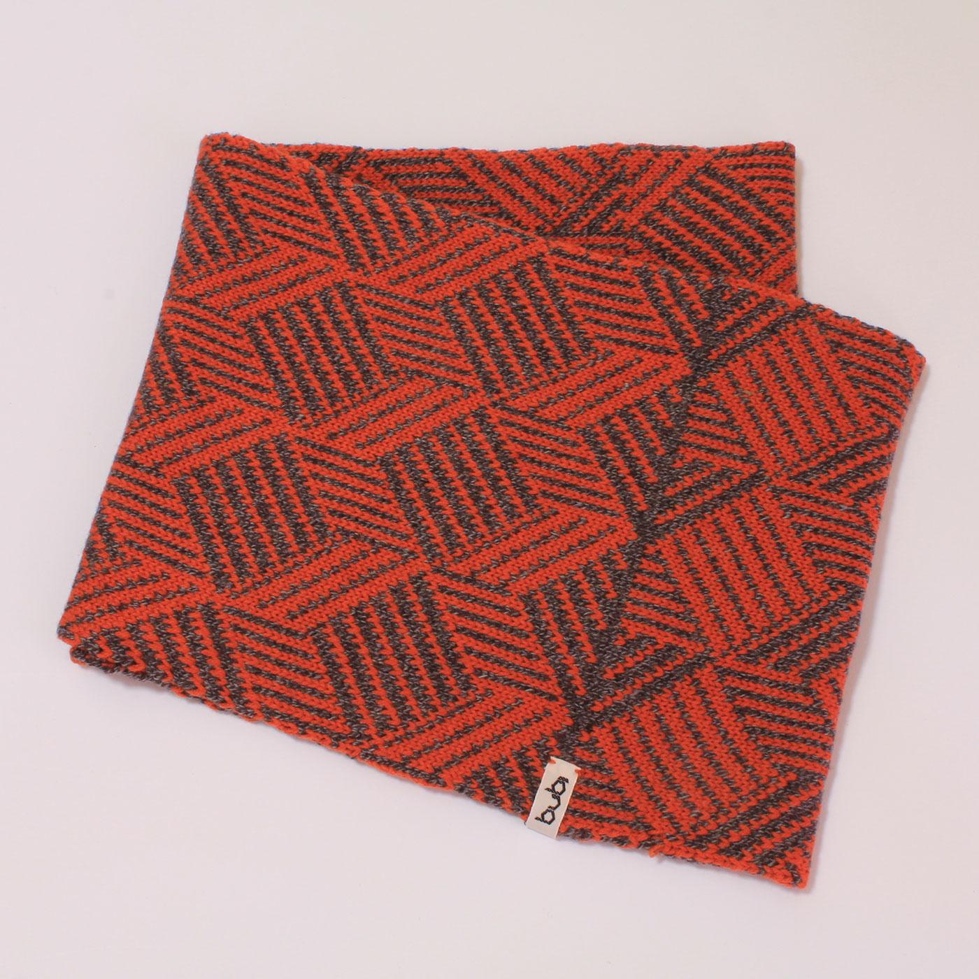 sciarpa ad anello arancio grigio visione di insieme
