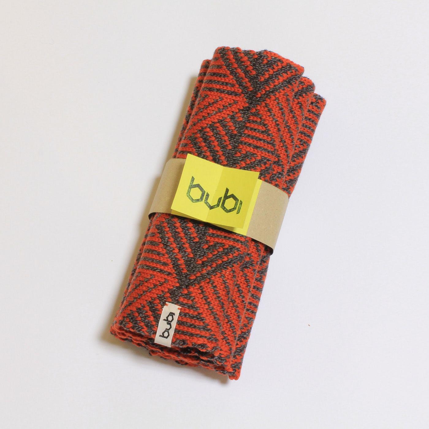 sciarpa ad anello arancio grigio packaging