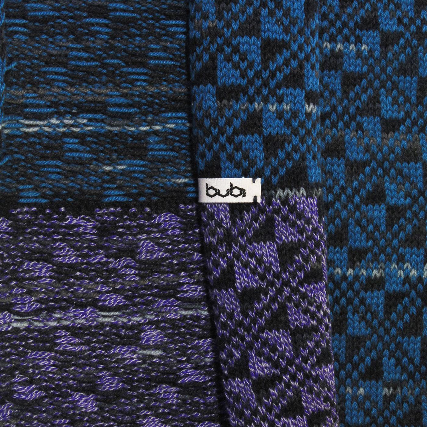 sciarpa ad anello blu lilla retro