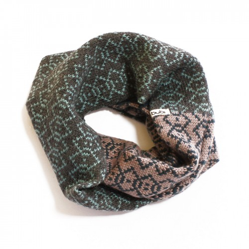 sciarpa ad anello grigio tortora verde acqua