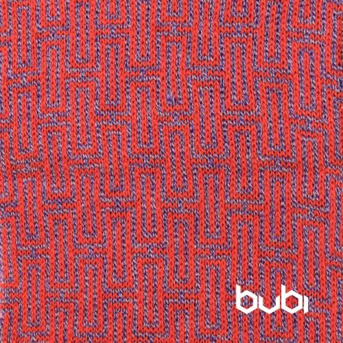 sciarpa ad anello rossa e lilla texture