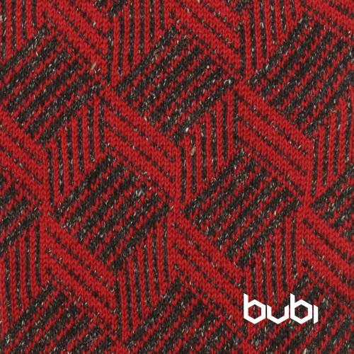 sciarpa ad anello rosso nera cubo
