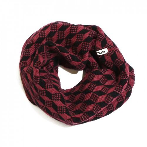sciarpa ad anello viola nero