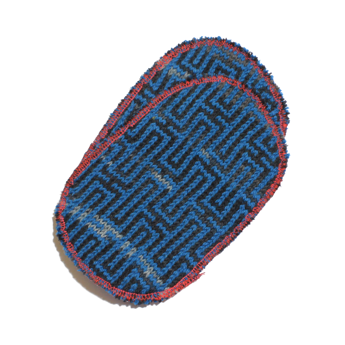 toppa nero azzurra labyrinth