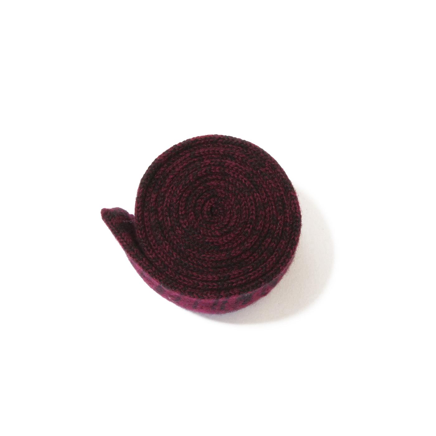 cravatta lana grigio viola