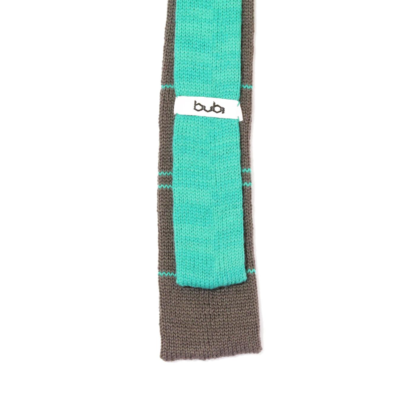 cravatta maglia grigio righe