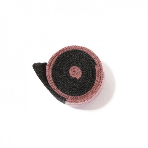 cravatta maglia rosa grigio