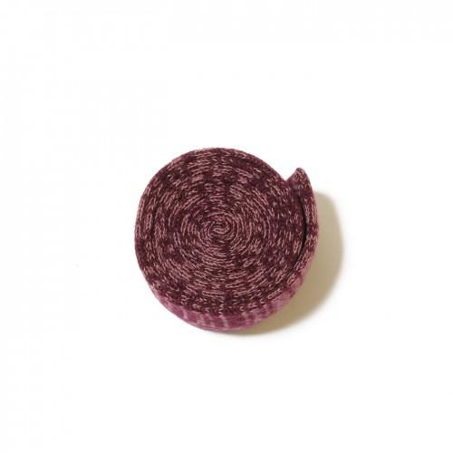 knit tie bordeaux pink