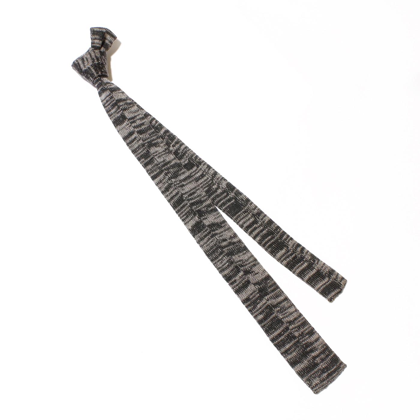 Knit tie gray glitch