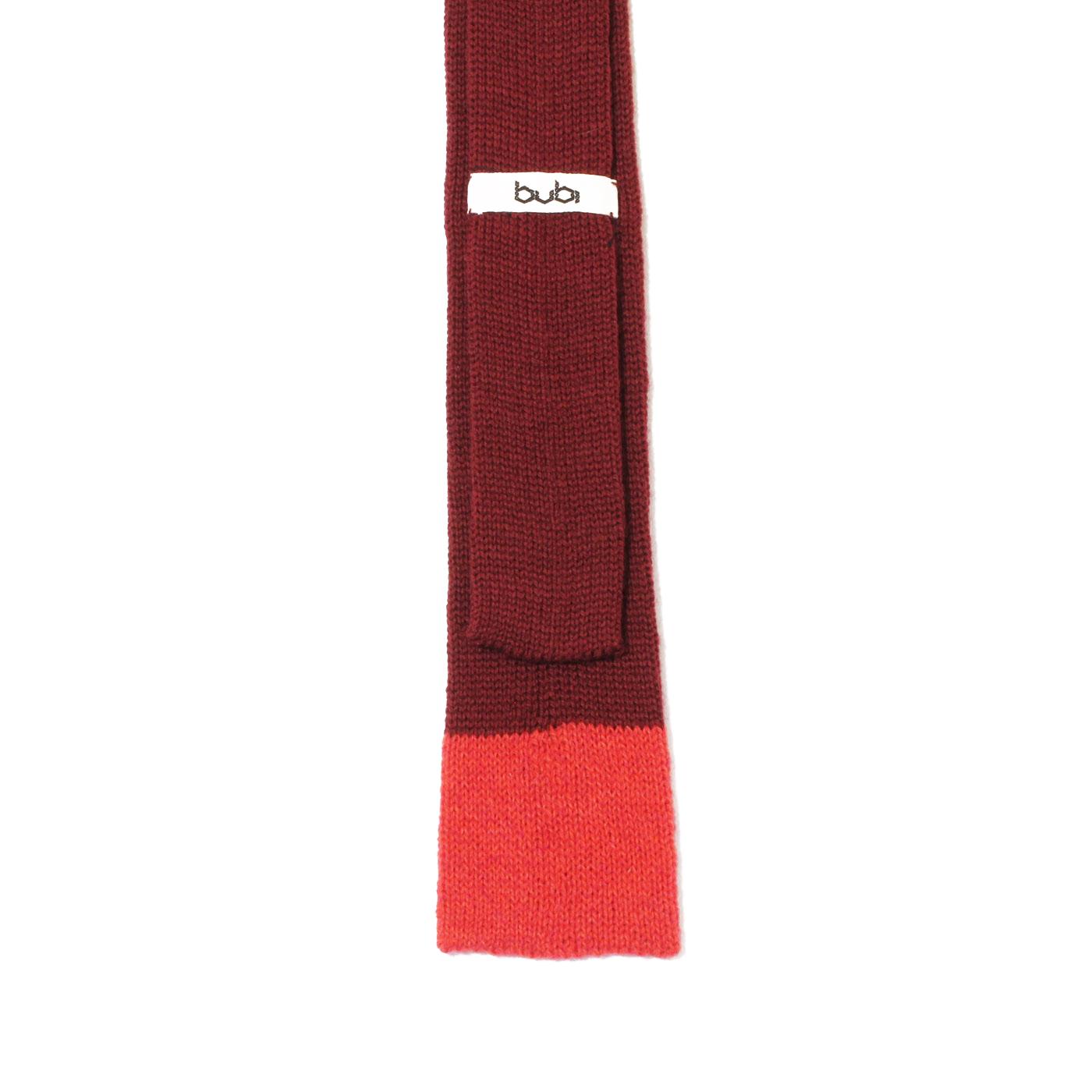 knit tie red