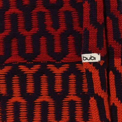 sciarpa ad anello blu rosso arancio
