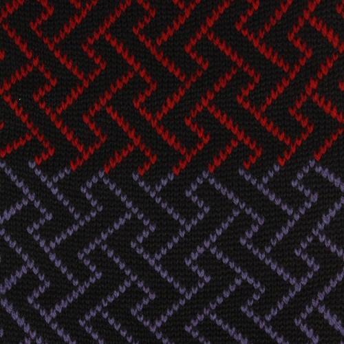 Sciarpa ad anello blu rosso lilla