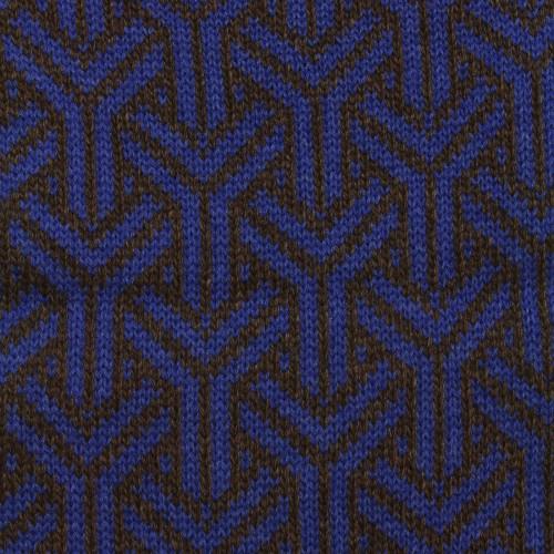 sciarpa ad anello azzurro marrone