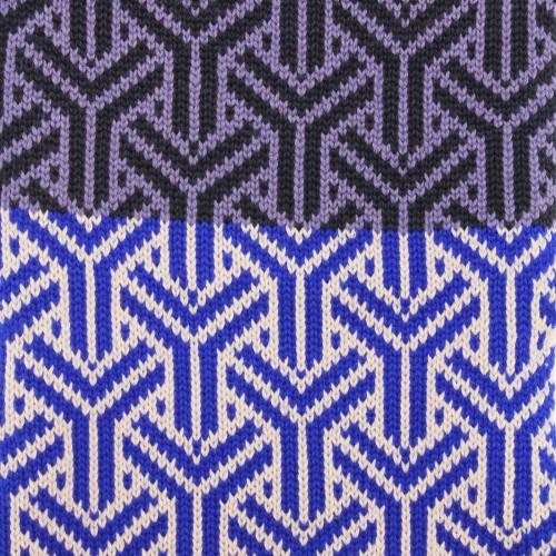 sciarpa ad anello bianco blu viola
