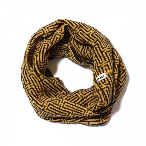 sciarpa ad anello giallo viola labyrinth