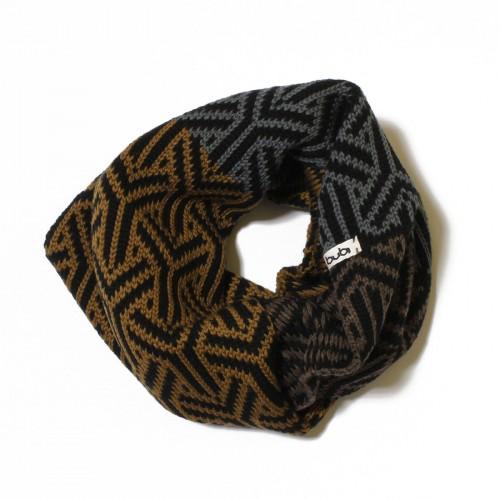 sciarpa ad anello nero grigio marrone senape