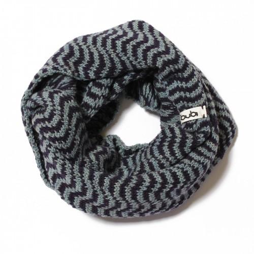 sciarpa ad anello celeste viola ondine