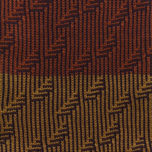 sciarpa ad anello senape viola marrone