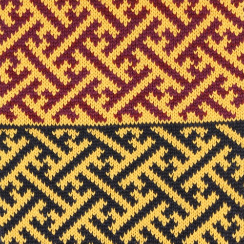 sciarpa ad anello giallo blu viola sayagata