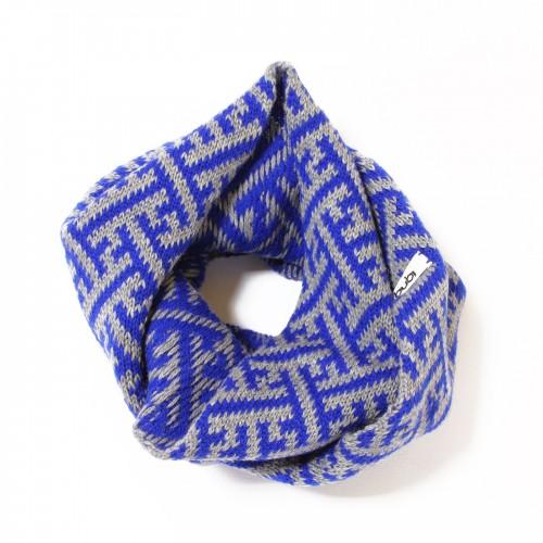 sciarpa ad anello sayagata grigio blu
