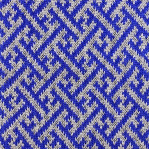 sciarpa ad anello grigio blu sayagata