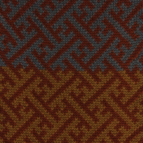 sciarpa ad anello senape tabacco avio sayagata