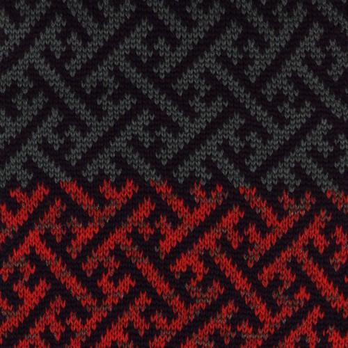 Sciarpa ad anello viola avio rosso sayagata