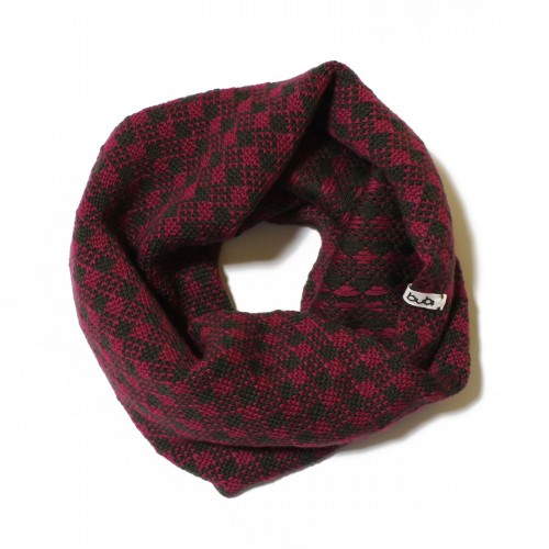 sciarpa ad anello viola grigio