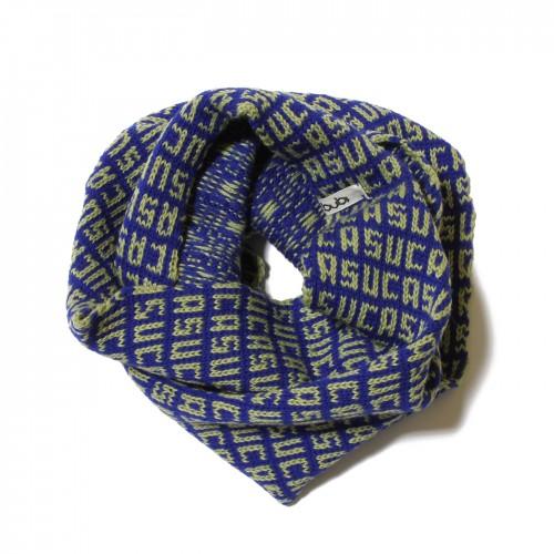 sciarpa ad anello blu verde suca
