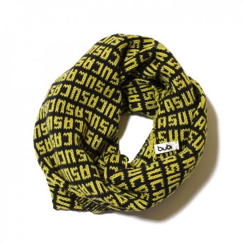 sciarpa ad anello giallo nero suca