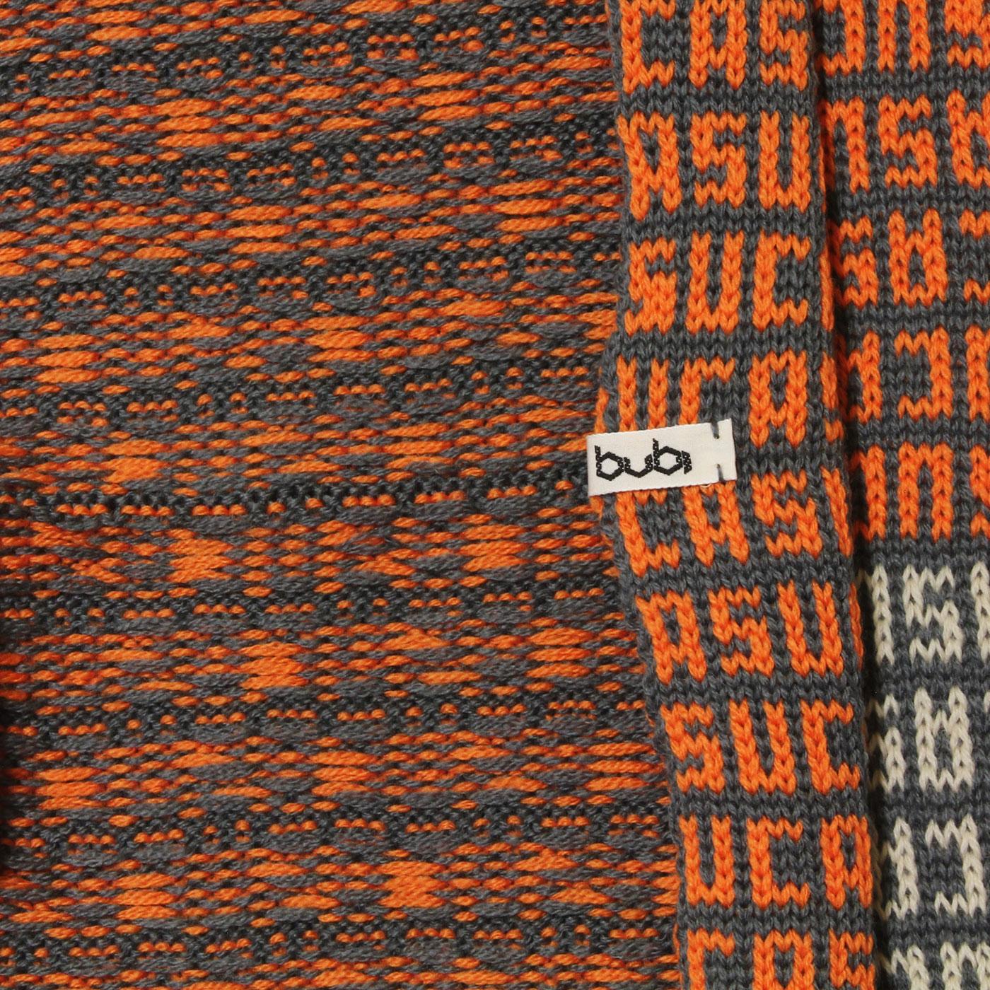 sciarpa ad anello suca grigio arancio bianco
