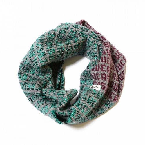 sciarpa ad anello grigio viola verde suca