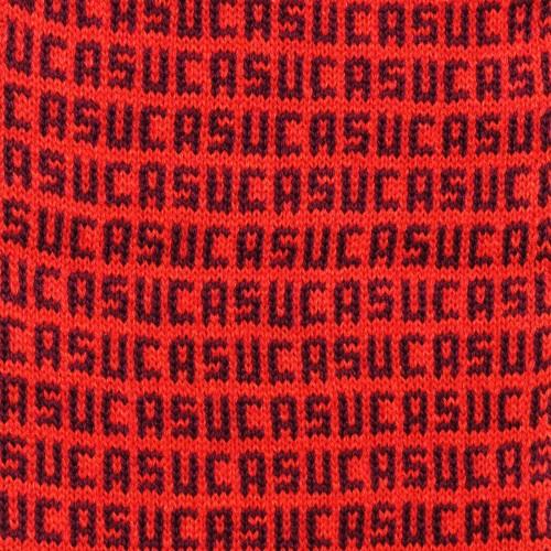 sciarpa ad anello suca rosso viola