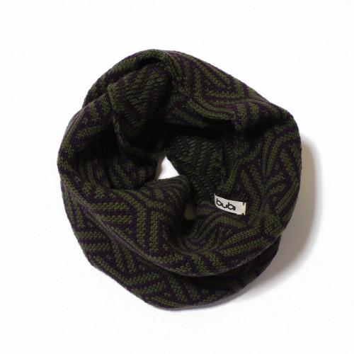 sciarpa ad anello verde viola