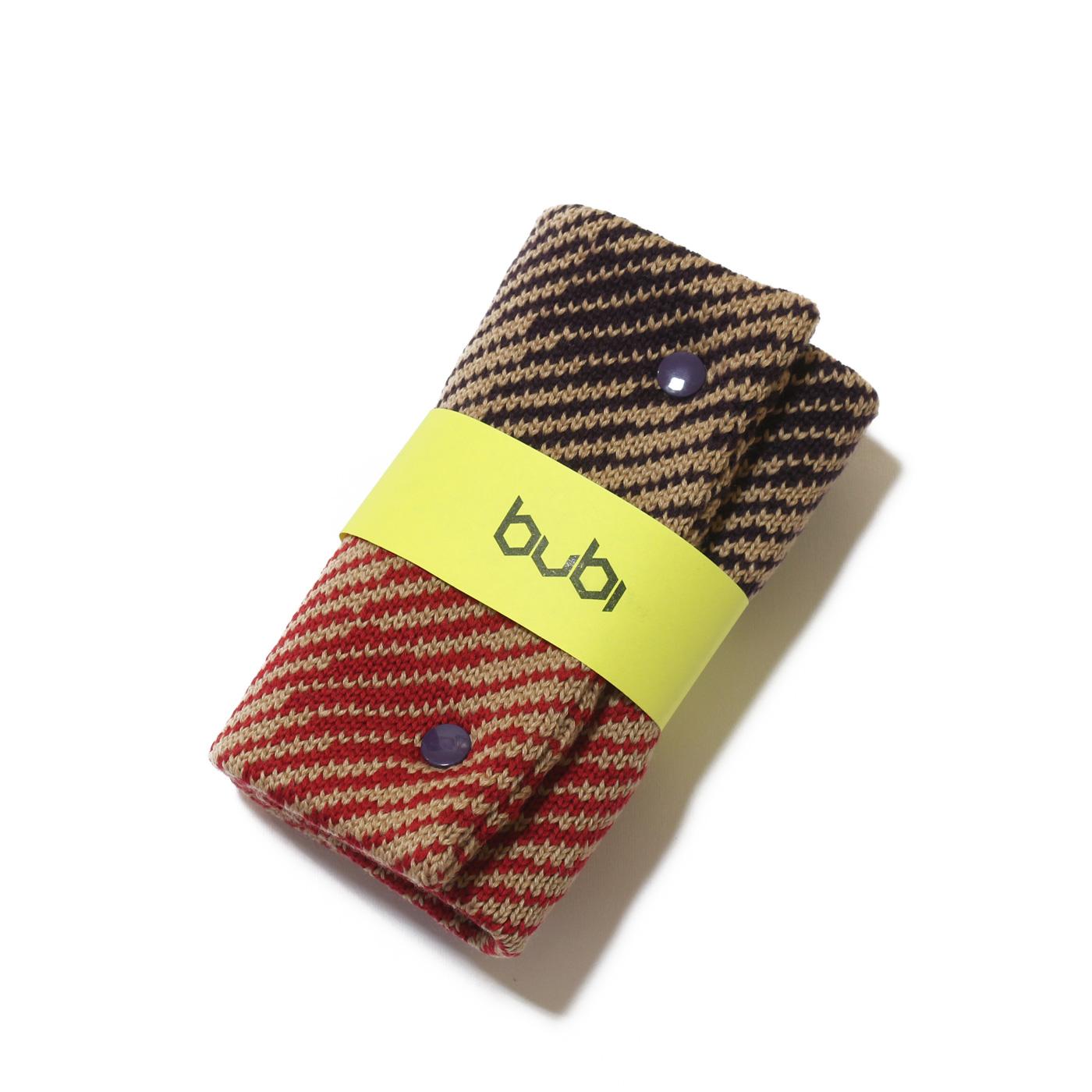 sciarpa ad anello beige rosso viola