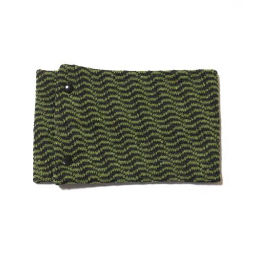 sciarpa ad anello verde antracite