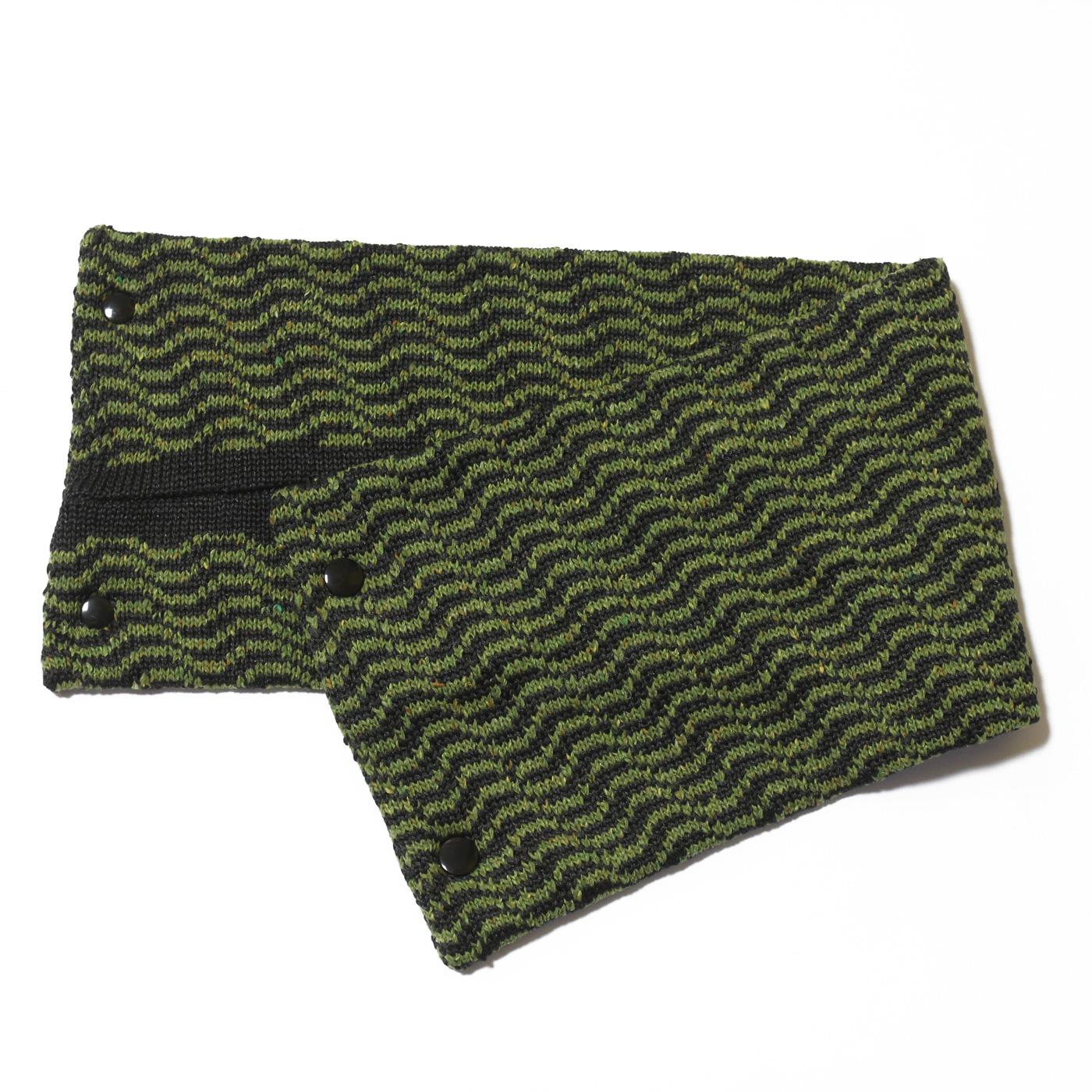 sciarpa con bottoni verde antracite