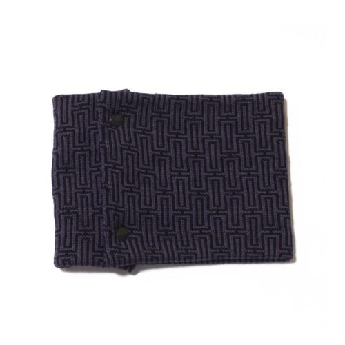 sciarpa ad anello blu e lilla