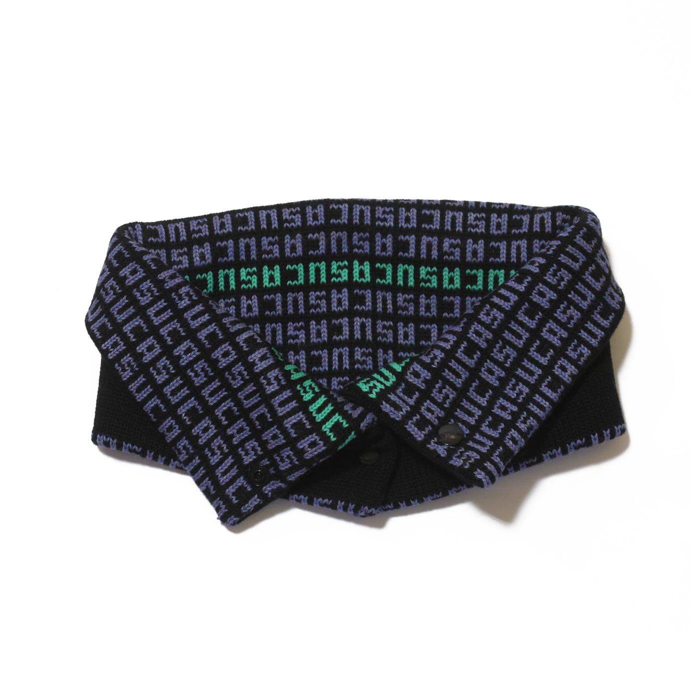 colletto nero azzurro verde suca