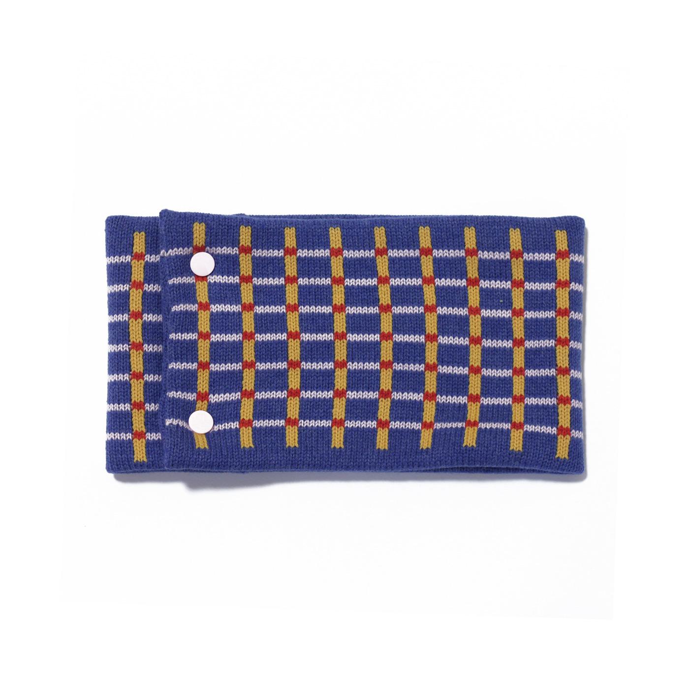 sciarpa ad anello azzurro giallo rosa rosso