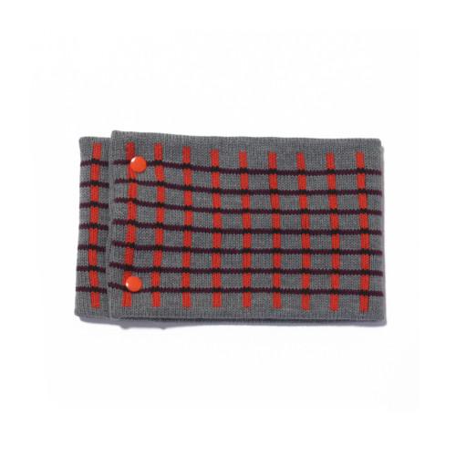 sciarpa ad anello grigio arancio bordeaux nero