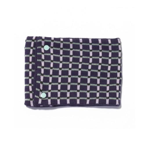 sciarpa ad anello blu viola rosa verde grigio