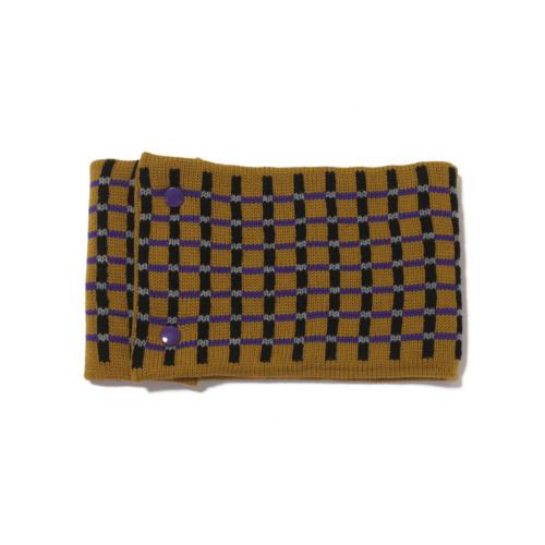 sciarpa ad anello senape nero viola grigio