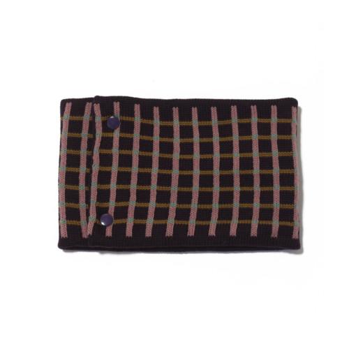 sciarpa ad anello viola rosa senape verde