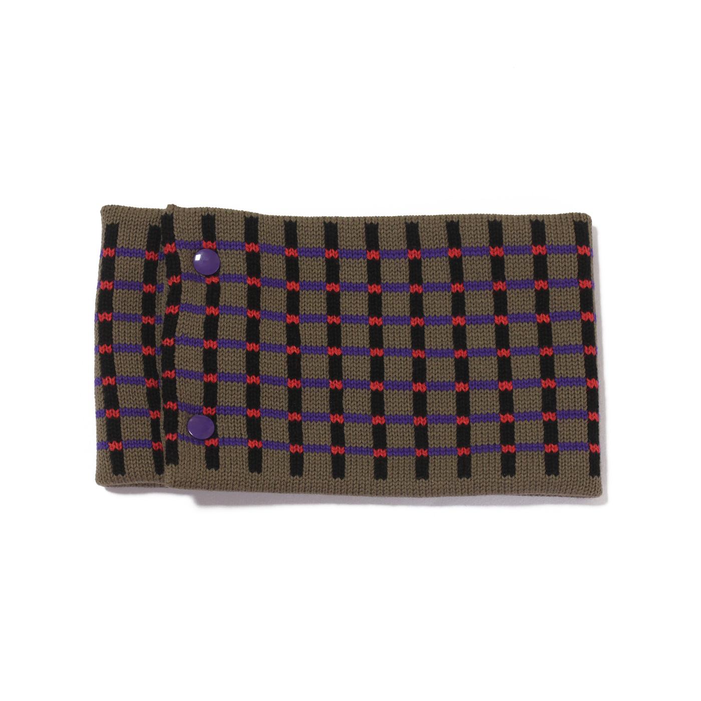 sciarpa ad anello grigio nero viola rosso