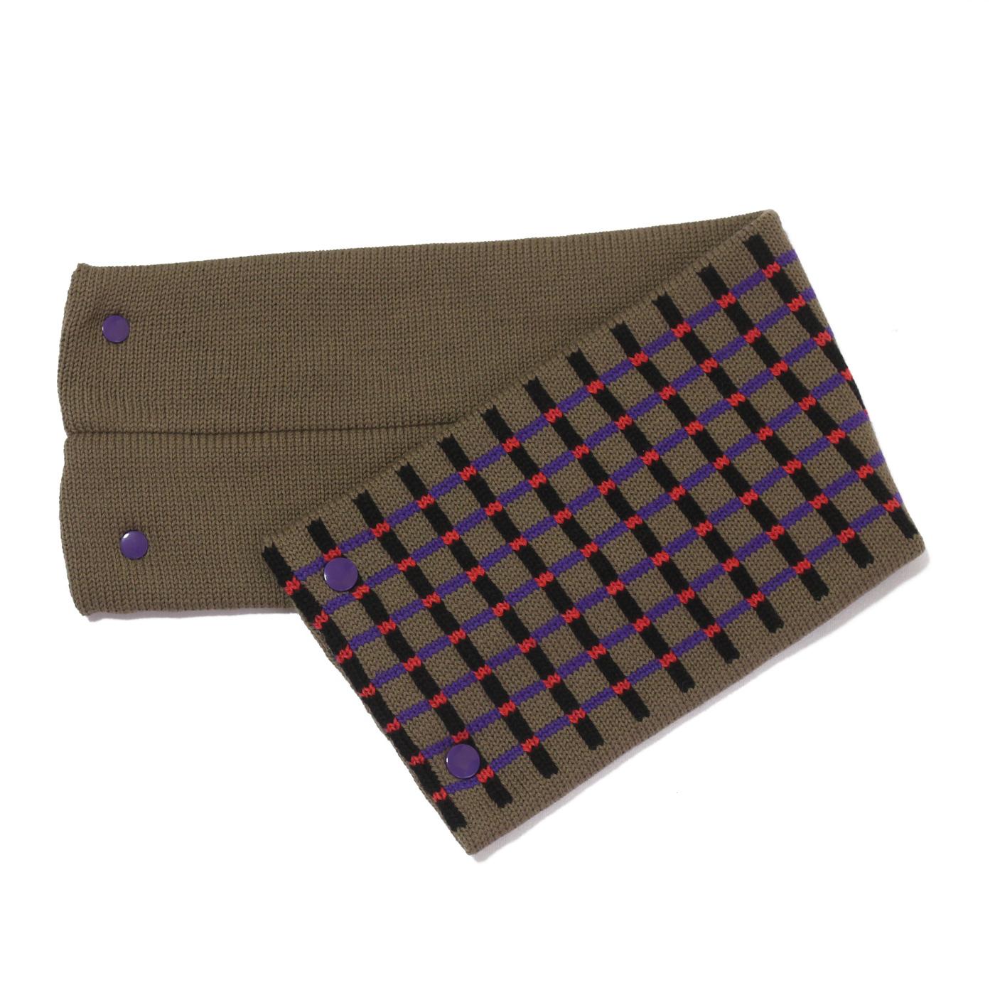 sciarpa con bottoni grigio nero viola rosso