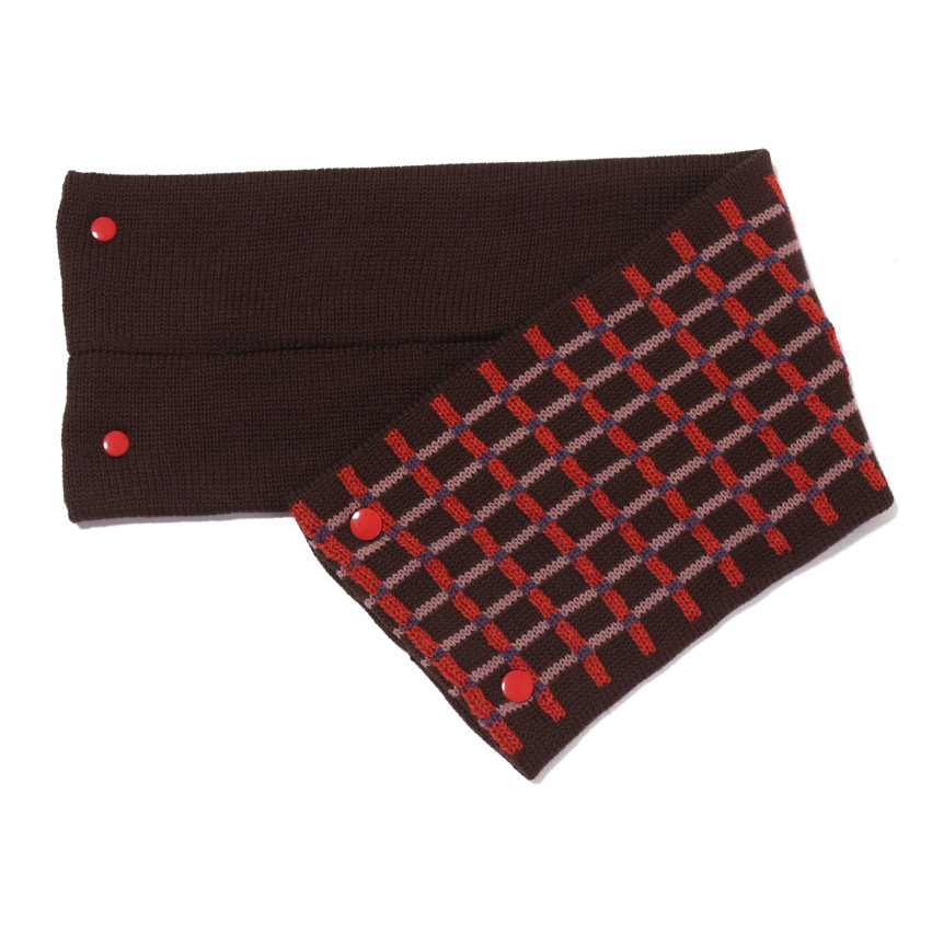 sciarpa con bottoni tabacco rosso rosa azzurro