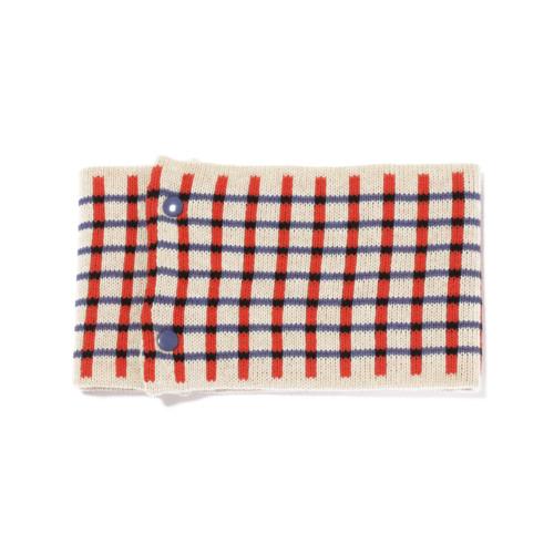 sciarpa ad anello bianco arancio azzurro nero
