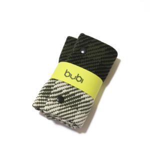 sciarpa ad anello verde nero bianco
