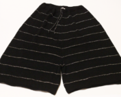 Pantaloni-in-lana-Nero-Argento